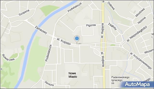 Rzeszów, Aleja Kopisto Wacława, mjr., mapa Rzeszów