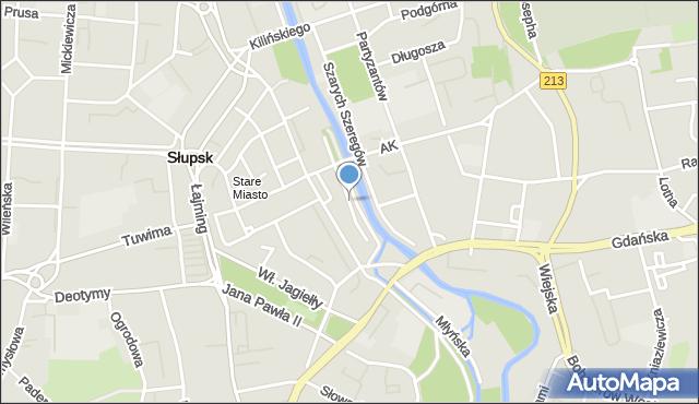 Słupsk, Aleja Nullo Francesco, mapa Słupska