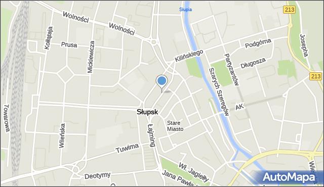 Słupsk, Aleja Sienkiewicza Henryka, mapa Słupska