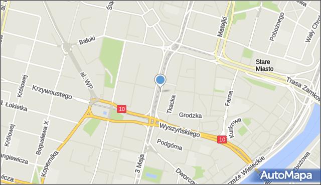 Szczecin, Aleja Niepodległości, mapa Szczecina