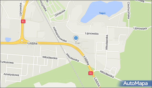 Toruń, Aleksandrowska, mapa Torunia