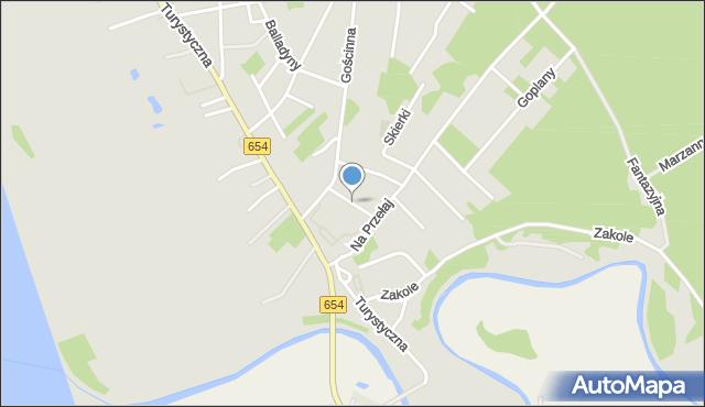 Toruń, Alladyna, mapa Torunia