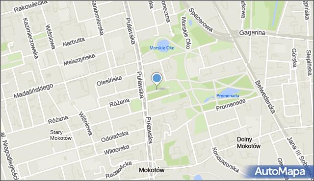 Warszawa, Aleja Panufnika Andrzeja, mapa Warszawy