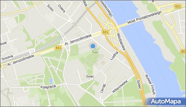 Warszawa, Alejka Dwie Dorotki, mapa Warszawy