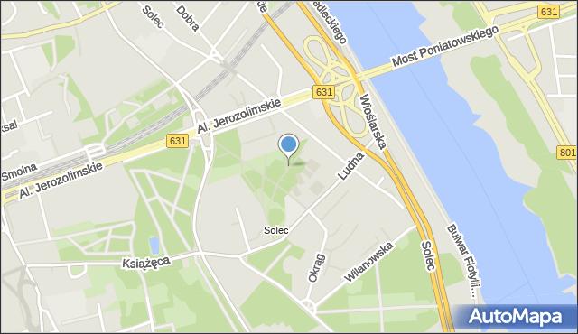 Warszawa, Alejka Płomyczek, mapa Warszawy