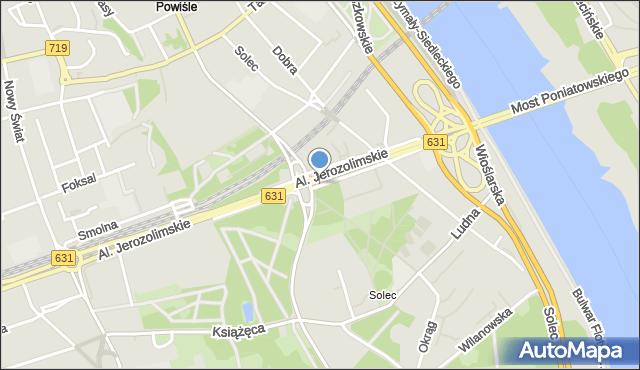 Warszawa, Aleja 3 Maja, mapa Warszawy