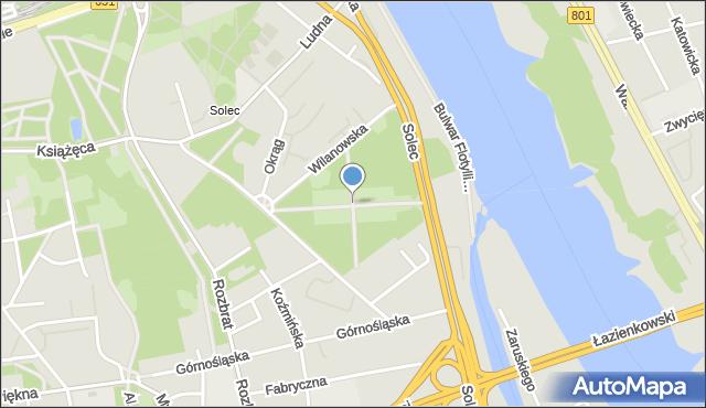 Warszawa, Aleja Zgrupowania AK Kryska, mapa Warszawy