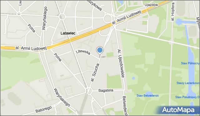 Warszawa, Aleja Szucha Jana Chrystiana, mapa Warszawy