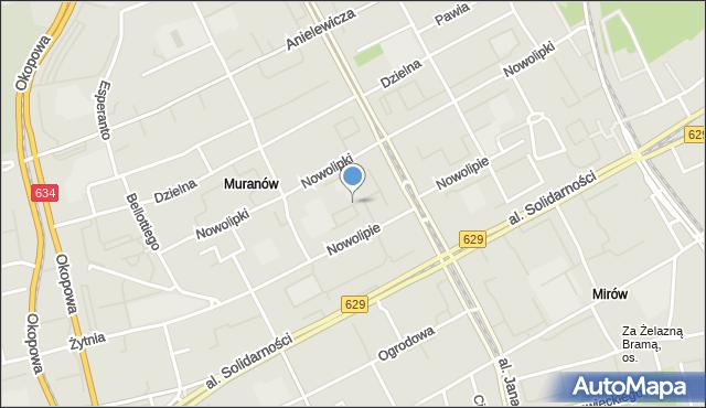 Warszawa, Aleja Strzałkowskiego Jerzego, mapa Warszawy