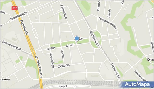 Warszawa, Aleja Wojska Polskiego, mapa Warszawy