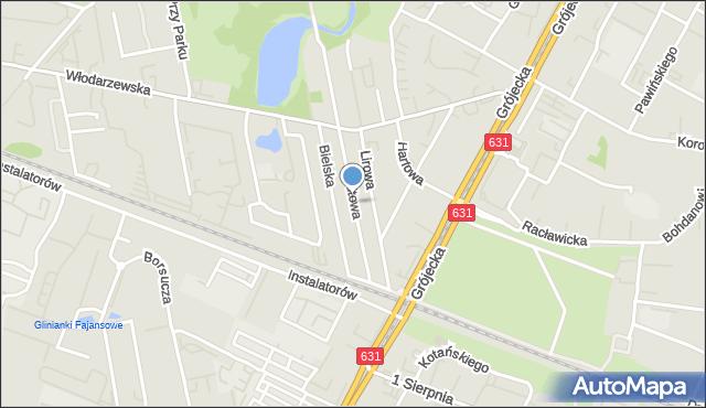 Warszawa, Altowa, mapa Warszawy