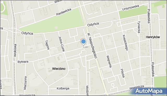 Warszawa, Aleja Promienistych, mapa Warszawy