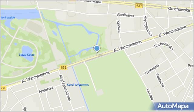 Warszawa, Aleja Waszyngtona Jerzego, mapa Warszawy