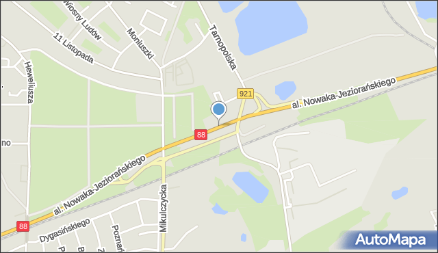 Zabrze, Aleja Nowaka-Jeziorańskiego Jana, mapa Zabrza