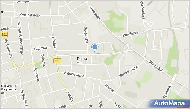 Zabrze, Aleja Bohaterów Monte Cassino, mapa Zabrza