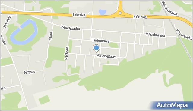 Toruń, Ametystowa, mapa Torunia