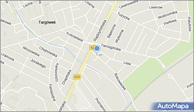 Warszawa, Amelińska, mapa Warszawy