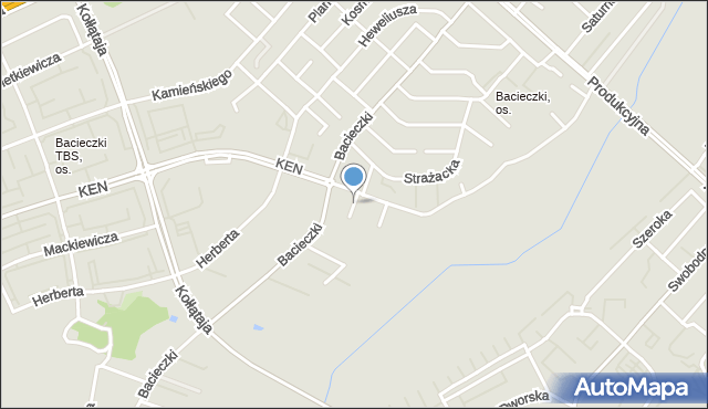 Białystok, Andromedy, mapa Białegostoku