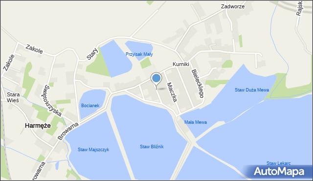 Harmęże, Andersa Władysława, gen., mapa Harmęże