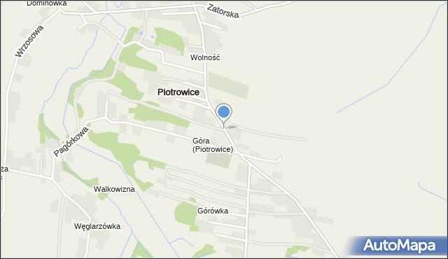 Piotrowice gmina Przeciszów, Andrychowska, mapa Piotrowice gmina Przeciszów