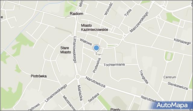 Radom, Anielewicza Mordechaja, mapa Radomia