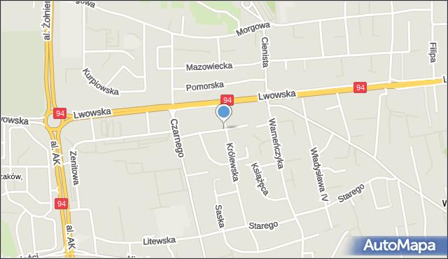 Rzeszów, Anny Jagiellonki, mapa Rzeszów