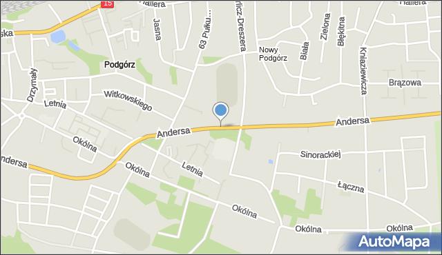 Toruń, Andersa Władysława, gen., mapa Torunia