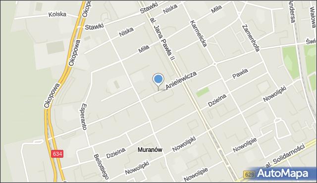 Warszawa, Anielewicza Mordechaja, mapa Warszawy