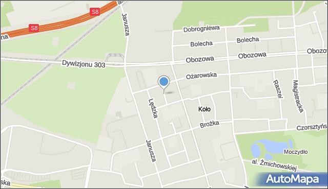 Warszawa, Andrychowska, mapa Warszawy
