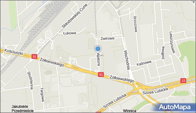 Toruń, Apatora, mapa Torunia