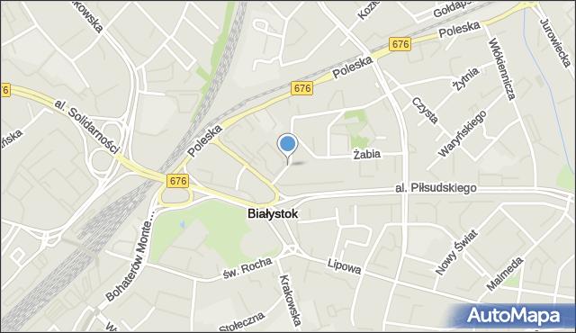 Białystok, Artyleryjska, mapa Białegostoku