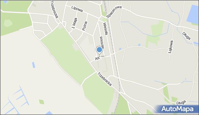 Chocianów, Armii Krajowej, mapa Chocianów