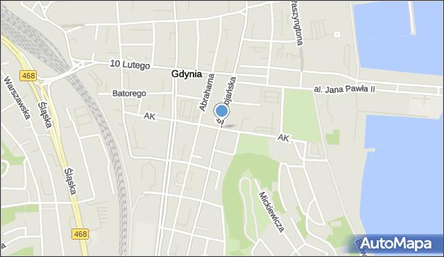 Gdynia, Armii Krajowej, mapa Gdyni