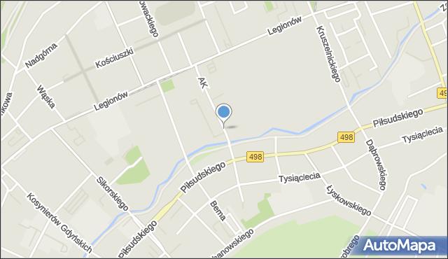 Grudziądz, Armii Krajowej, mapa Grudziądza