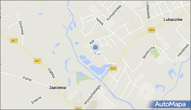 Lubaczów, Armii Krajowej, mapa Lubaczów