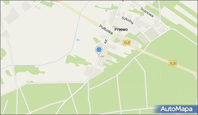 Pniewo gmina Zatory, Armii Krajowej, mapa Pniewo gmina Zatory