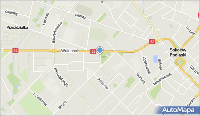 Sokołów Podlaski, Armii Krajowej, mapa Sokołów Podlaski
