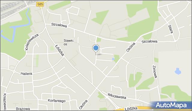 Toruń, Artyleryjska, mapa Torunia