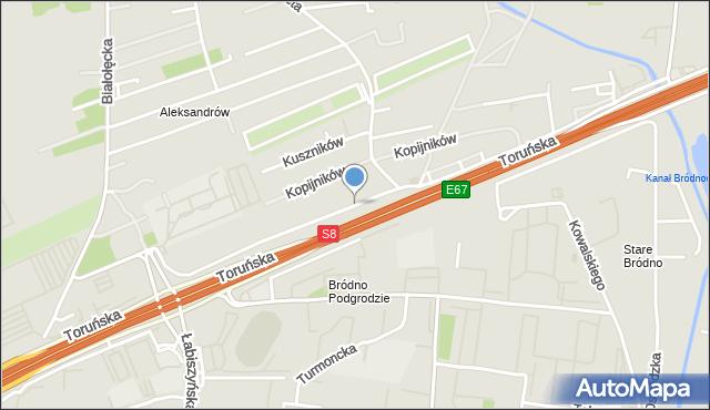 Warszawa, Artyleryjska, mapa Warszawy
