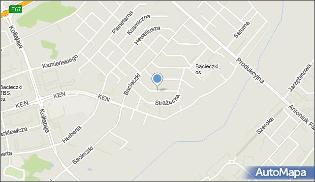 Białystok, Astronautów, mapa Białegostoku