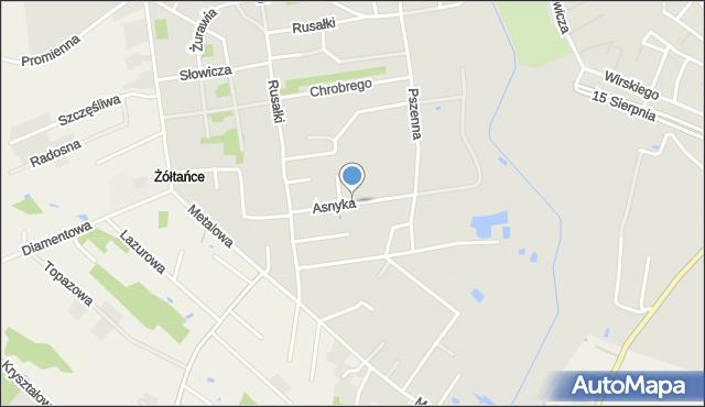 Chełm, Asnyka Adama, mapa Chełma