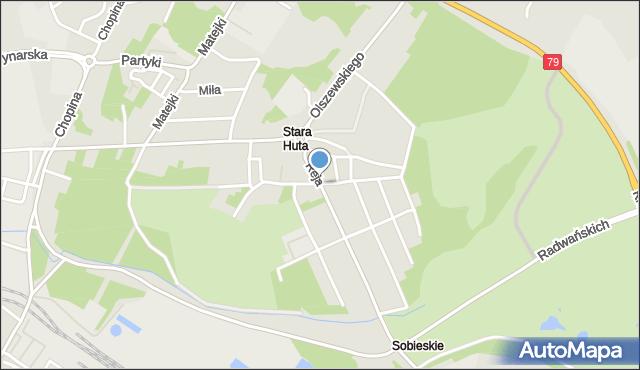 Jaworzno, Asnyka Adama, mapa Jaworzno