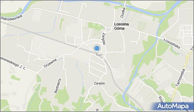 Limanowa, Asnyka Adama, mapa Limanowa