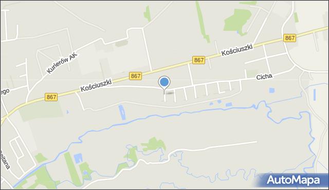 Lubaczów, Asnyka Adama, mapa Lubaczów