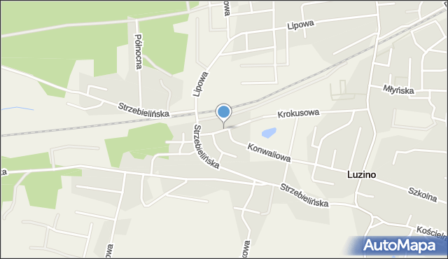 Luzino, Asnyka Adama, mapa Luzino