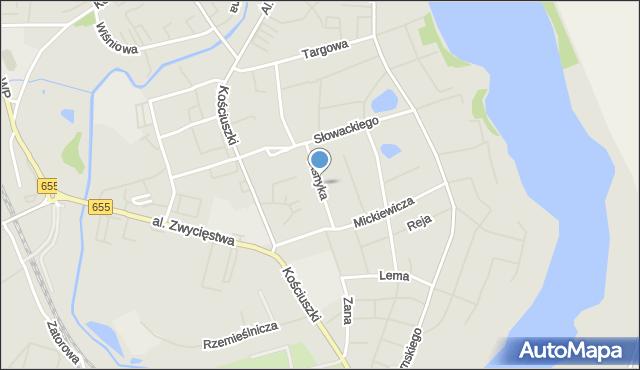Olecko, Asnyka Adama, mapa Olecko