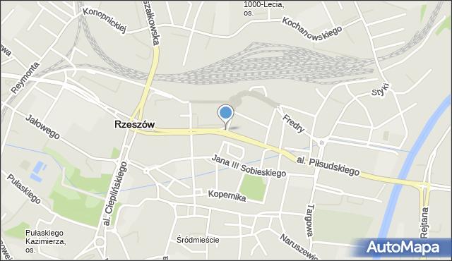 Rzeszów, Asnyka Adama, mapa Rzeszów