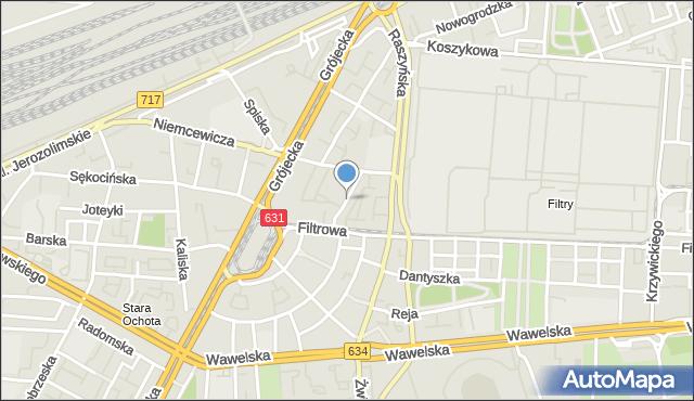 Warszawa, Asnyka Adama, mapa Warszawy