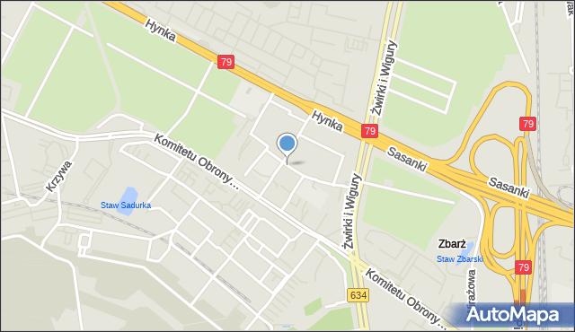 Warszawa, Astronautów, mapa Warszawy