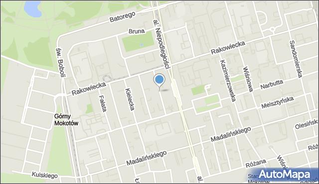 Warszawa, Asfaltowa, mapa Warszawy